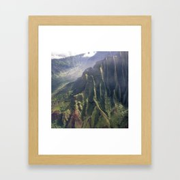 Helicopter View of Heaven in Hawaii Framed Art Print