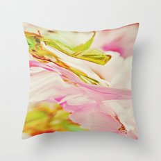Twisted Blossoms pink Throw Pillow