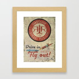 Red Rocket - Custom Fallout Ad Framed Art Print