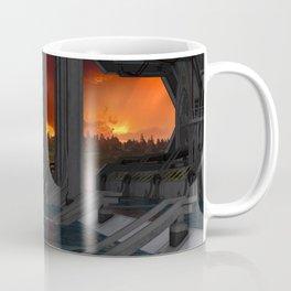 Drevos - Sci Fi - Sunset - Science Fiction - ZG 3D Coffee Mug