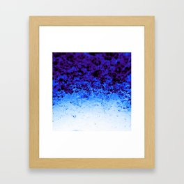 Indigo Blue Ombre Crystals Framed Art Print