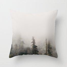 Forbidden Forest - Wanderlust Nature Photography Throw Pillow