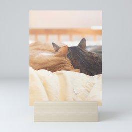 cat nap Mini Art Print