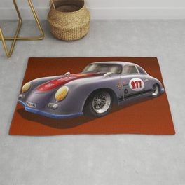 Porsche 356 Illustration Rug