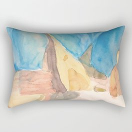 String Instruments and Books Rectangular Pillow