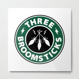 Three Broomsticks Metal Print