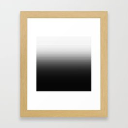 Black & White Ombre Gradient Framed Art Print
