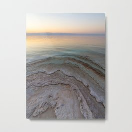 Pastel colours of a sunset in Jordan | Salt crystals of the Dead Sea Metal Print