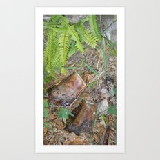 touch of green Art Print