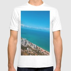 Brazil Beach MEDIUM White Mens Fitted Tee