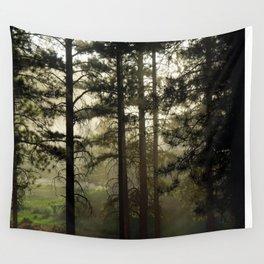 Sunrise Shroud Pine Forest Wall Tapestry