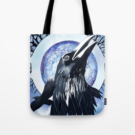 The Raven and The Moon Tote Bag