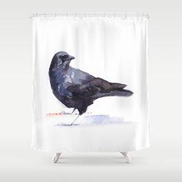 Crow #3 Shower Curtain