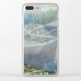Lonely again in the fog Clear iPhone Case