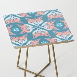 Pastel Fox Pattern Side Table