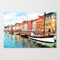 denmark Canvas Prints featuring Copenhagen, Denmark by Philippe Gerber