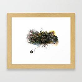 Black Bear Lair Framed Art Print