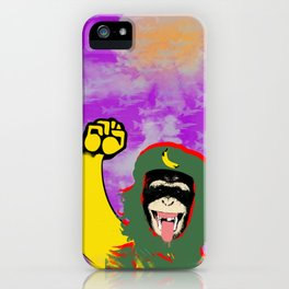 Chimp Guevara With Jet Cloud and Bomb iPhone Case