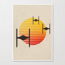 design tie fighters Canvas Print