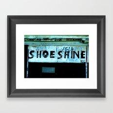 Shoe Shine  Framed Art Print