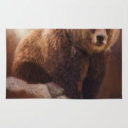 Great Strength - Grizzly Bear Art by Jordan Blackstone Rug