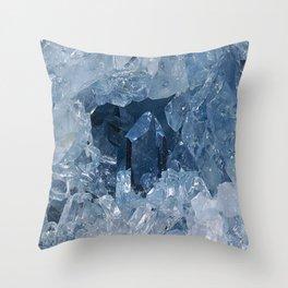Blue Gemstone Throw Pillow