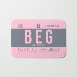 Luggage Tag B - BEG Belgrade Serbia Bath Mat