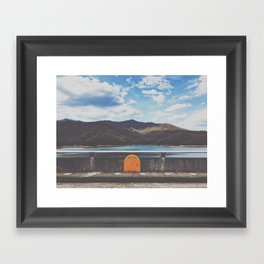 Life Ring On Fontana Damn • Appalachian Trail Framed Art Print