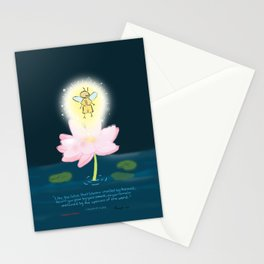 Lotus Firefly Stationery Cards