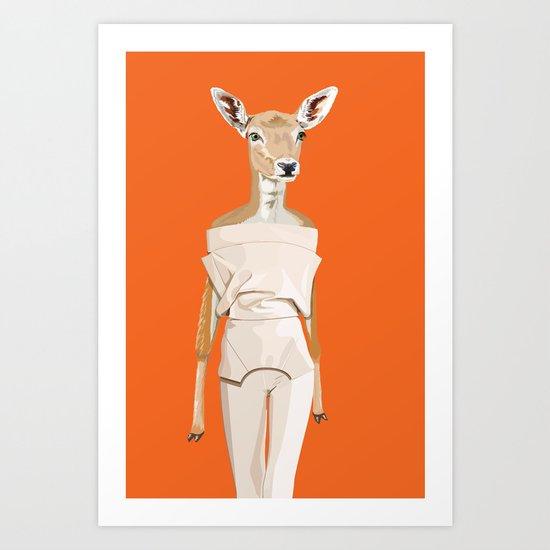 Doe wearing Felipe Oliveira Baptista Art Print