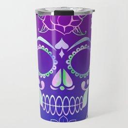 Love Skull (violette gradient) Travel Mug