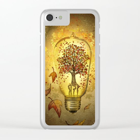 Autumn light Clear iPhone Case