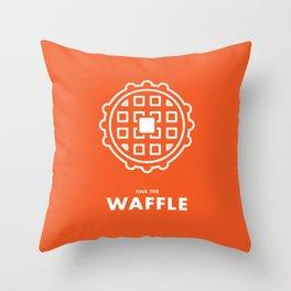 Hail the Waffle Throw Pillow