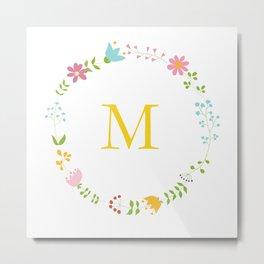 M for miel! Metal Print