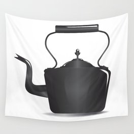 Victorian Black Kettle Wall Tapestry