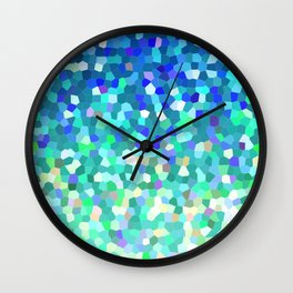Mosaic Sparkley Texture G149 Wall Clock