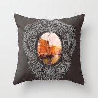sail Throw Pillows featuring Sail by Iris V.