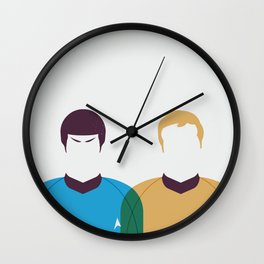 Kirk and Spock Wall Clock