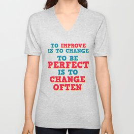 Motivational & Hilarious Improve Tshirt Design TO IMPROVE Unisex V-Neck