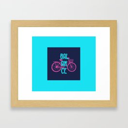 Balance. Hand Drawn Bike Framed Art Print