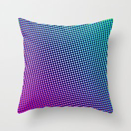 80's grade purple Throw Pillow