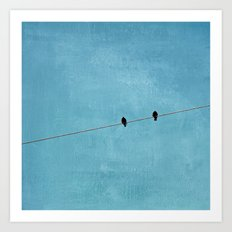 just the two of us Art Print