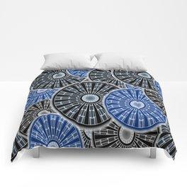 Cog Gear Wheel Engineering Round Comforters