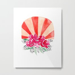 Fuchsia Rising Sun Bouquet Metal Print
