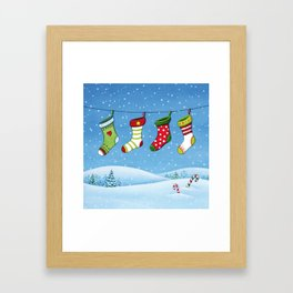 Christmas stockings Framed Art Print