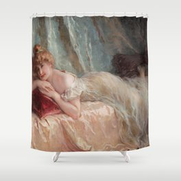 Idle Woman (1906) Shower Curtain