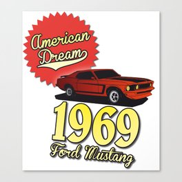 Ford Mustang 1969 Canvas Print