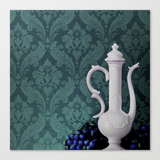 Decanter and Grapes Canvas Print