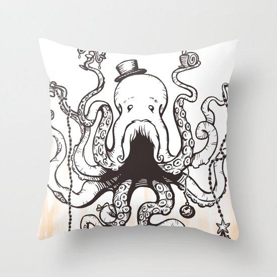 Octoluminary Throw Pillow