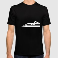 Swimming in Sound Black MEDIUM Mens Fitted Tee